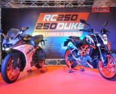 KTM RC250 and 250 Duke show up