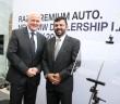 From left: Harris with Razak during the opening of Raza Premium Auto in Kelantan - BMW's latest 4S centre.