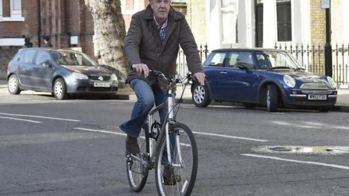 Clarkson cycling to his home in west London on March 26. - Reuters