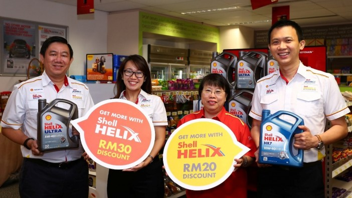 Shell offers discounts up to RM30 on engine oil