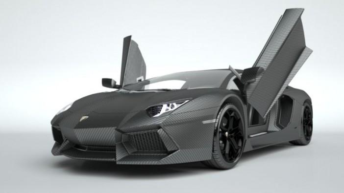 The Lamborghini Aventador dressed in carbon fibre finery.
