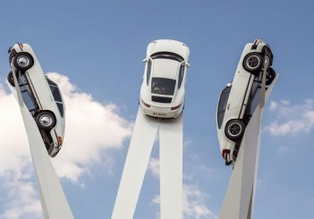 Porsche's soaring sculpture pays homage to 911