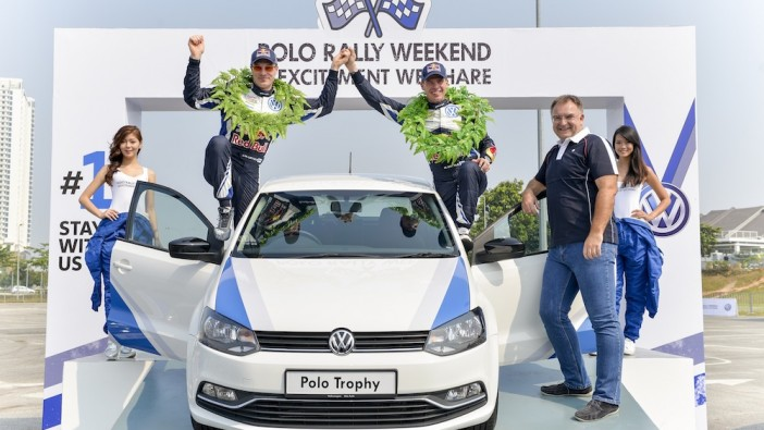 Latvala, Anttila and Keller, at the launch of the Polo Trophy.