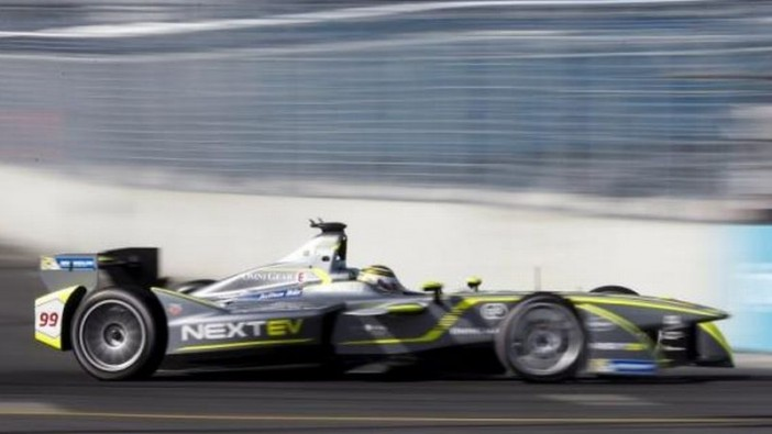 NEXTEV TCR driver Nelson Piquet of Brazil competing in the Formula E Championship race in central Moscow on June 6. - Reuters