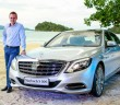 Raine with the Maybach in Langkawi. The sumptuous space for rear passengers is shown below.