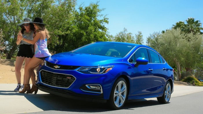The Chevrolet Cruze Friday, April 15, 2016 in Rancho Mirage, California. (Chevrolet News Photo)