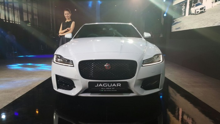 New Jaguar XF leaps in
